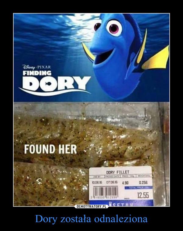 Dory została odnaleziona –