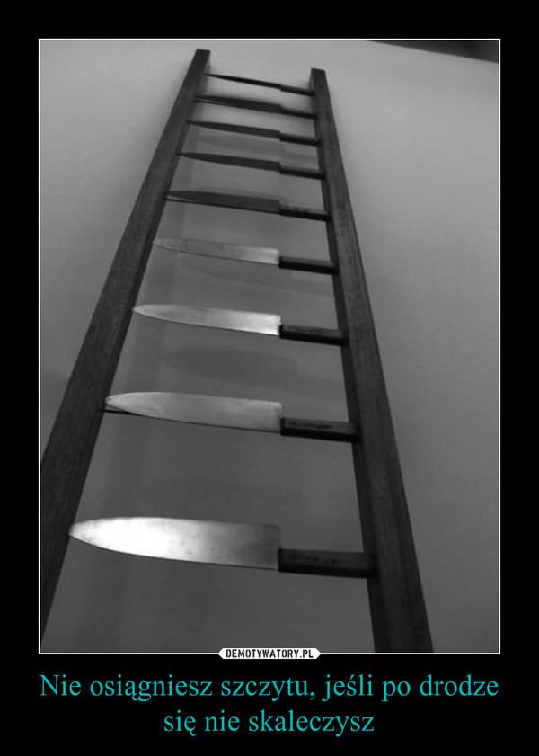 Nie osiągniesz szczytu, jeśli po drodze się nie skaleczysz –
