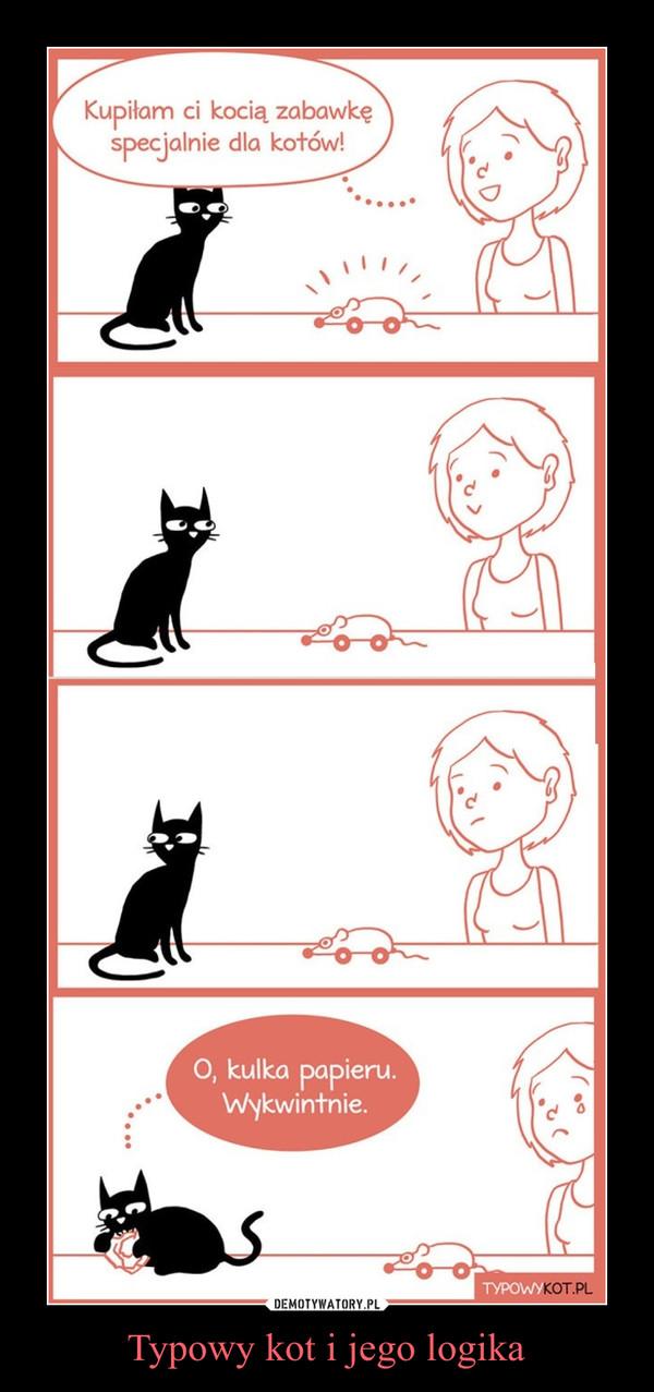 Typowy kot i jego logika –  Kupiłam ci kocią zabawkę specjalnie dla kotów!O, kulka papieru. Wykwintnie.