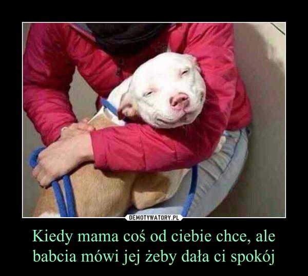 Kiedy mama coś od ciebie chce, ale babcia mówi jej żeby dała ci spokój –