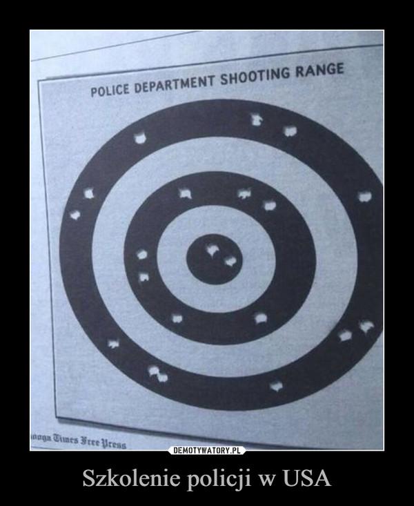 Szkolenie policji w USA –