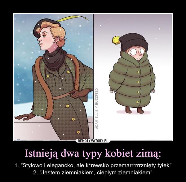 """Istnieją dwa typy kobiet zimą: – 1. """"Stylowo i elegancko, ale k*rewsko przemarrrrrrznięty tyłek""""2. """"Jestem ziemniakiem, ciepłym ziemniakiem"""""""