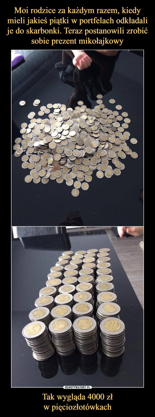Tak wygląda 4000 złw pięciozłotówkach –