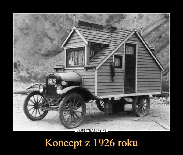Koncept z 1926 roku –