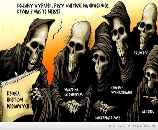 Śmierć na drodze –  KOLEJNY WYPADEK PRZY WJEŹDZIE NA OBWODNICĘ. KTÓRA Z WAS TO BIERZE?KSIĘGA IDIOTÓW DROGOWYCH