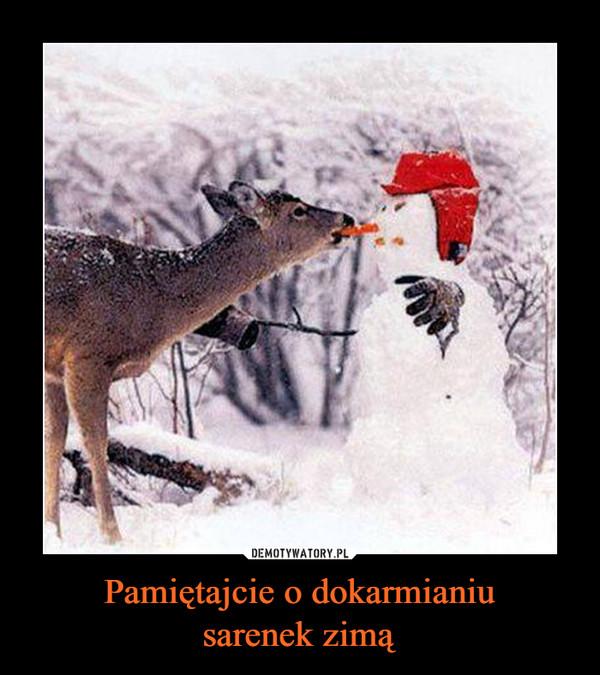 Pamiętajcie o dokarmianiusarenek zimą –