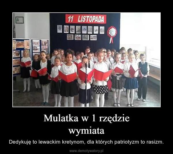 Mulatka w 1 rzędziewymiata – Dedykuję to lewackim kretynom, dla których patriotyzm to rasizm.