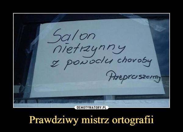 Prawdziwy mistrz ortografii –