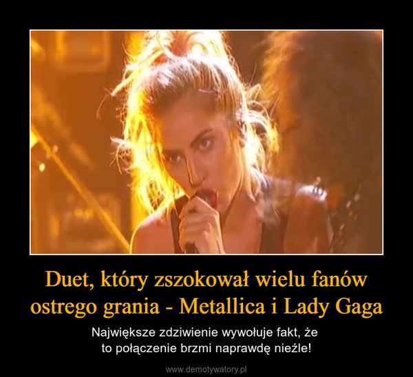 Duet, który zszokował wielu fanów ostrego grania - Metallica i Lady Gaga – Największe zdziwienie wywołuje fakt, że to połączenie brzmi naprawdę nieźle!