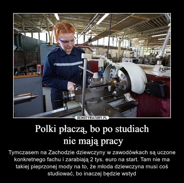 Polki płaczą, bo po studiach nie mają pracy – Tymczasem na Zachodzie dziewczyny w zawodówkach są uczone konkretnego fachu i zarabiają 2 tys. euro na start. Tam nie ma takiej pieprzonej mody na to, że młoda dziewczyna musi coś studiować, bo inaczej będzie wstyd