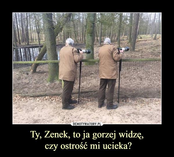 Ty, Zenek, to ja gorzej widzę, czy ostrość mi ucieka? –