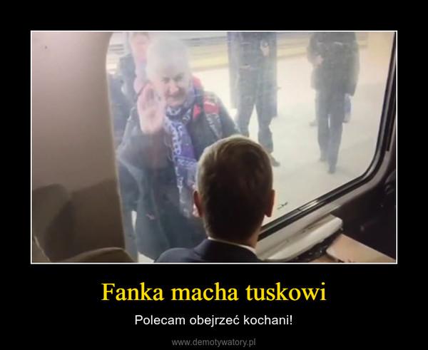 Fanka macha tuskowi – Polecam obejrzeć kochani!