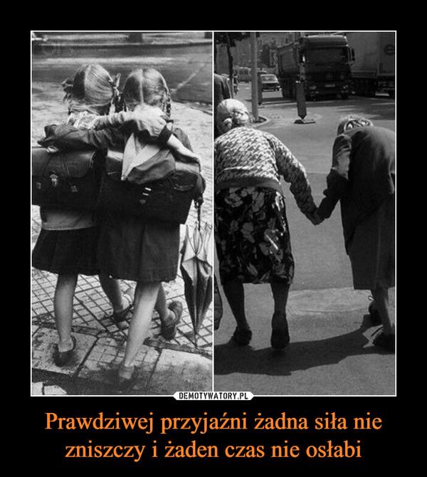 Prawdziwej przyjaźni żadna siła nie zniszczy i żaden czas nie osłabi –
