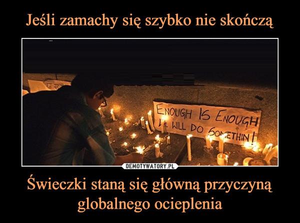 Świeczki staną się główną przyczyną globalnego ocieplenia –