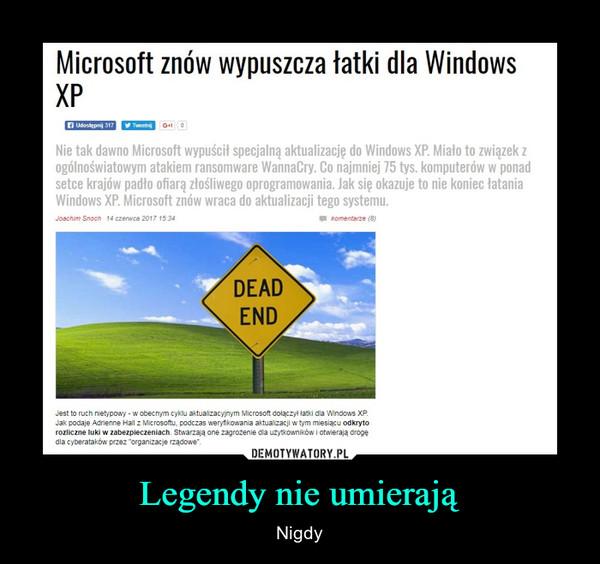 Legendy nie umierają – Nigdy