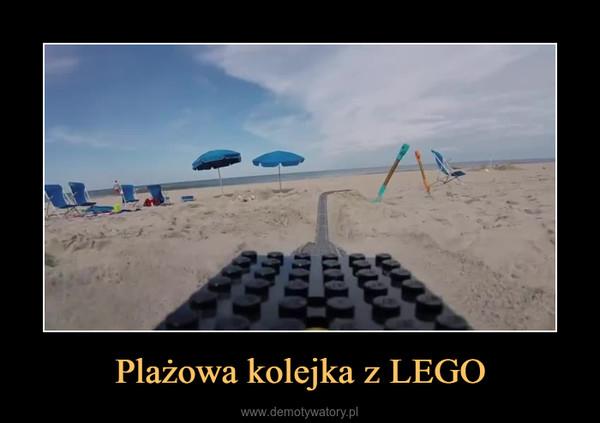 Plażowa kolejka z LEGO –
