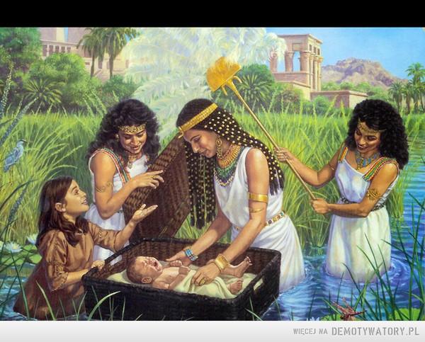 """Mojżesz. Pierwsze dziecko z 500+ ? – Wj 2,9 - Córka faraona tak jej powiedziała: """"Weź to dziecko i wykarm je dla mnie, a ja dam ci za to zapłatę"""". Wówczas kobieta zabrała dziecko i wykarmiła je."""