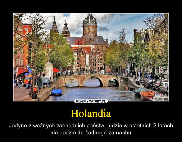 Holandia – Jedyne z ważnych zachodnich państw,  gdzie w ostatnich 2 latach nie doszło do żadnego zamachu
