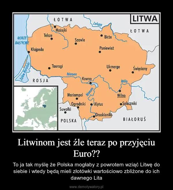 Litwinom jest źle teraz po przyjęciu Euro?? – To ja tak myślę że Polska mogłaby z powrotem wziąć Litwę do siebie i wtedy będą mieli złotówki wartościowo zbliżone do ich dawnego Lita