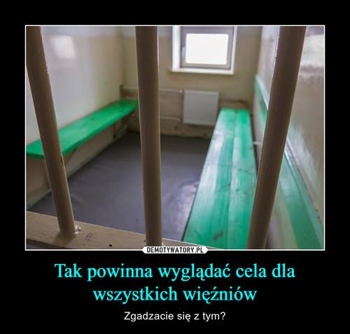 Tak powinna wyglądać cela dla wszystkich więźniów