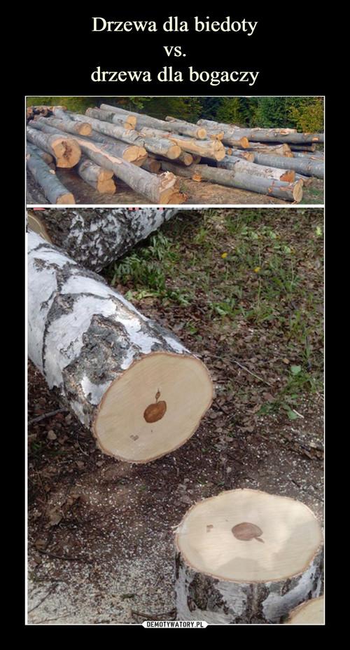 Drzewa dla biedoty vs. drzewa dla bogaczy