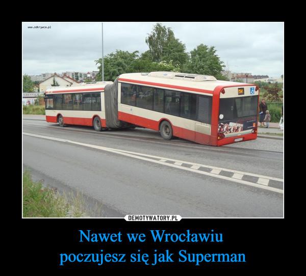 Nawet we Wrocławiu poczujesz się jak Superman –