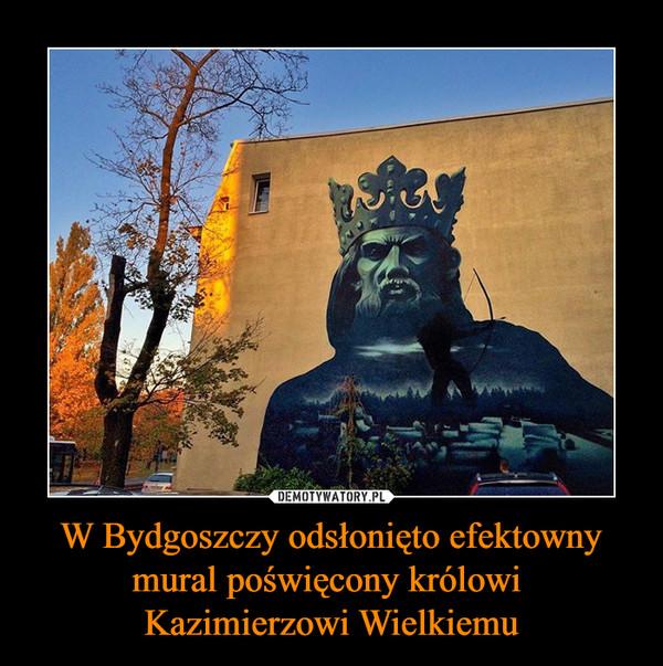 W Bydgoszczy odsłonięto efektowny mural poświęcony królowi Kazimierzowi Wielkiemu –