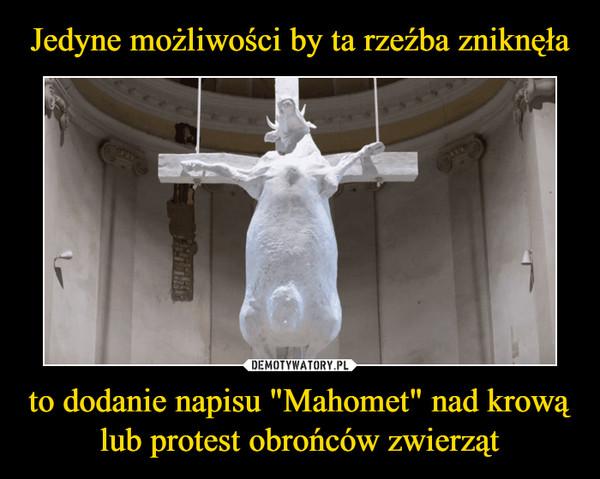 """to dodanie napisu """"Mahomet"""" nad krową lub protest obrońców zwierząt –"""
