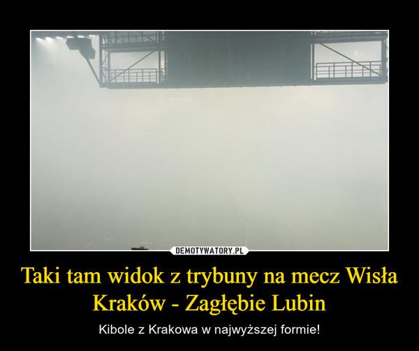 Taki tam widok z trybuny na mecz Wisła Kraków - Zagłębie Lubin – Kibole z Krakowa w najwyższej formie!