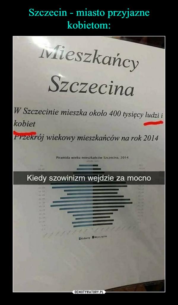 –  Mieszkańcy SzczecinaW Szczecinie mieszka około 400 tysięcy ludzi i kobiet