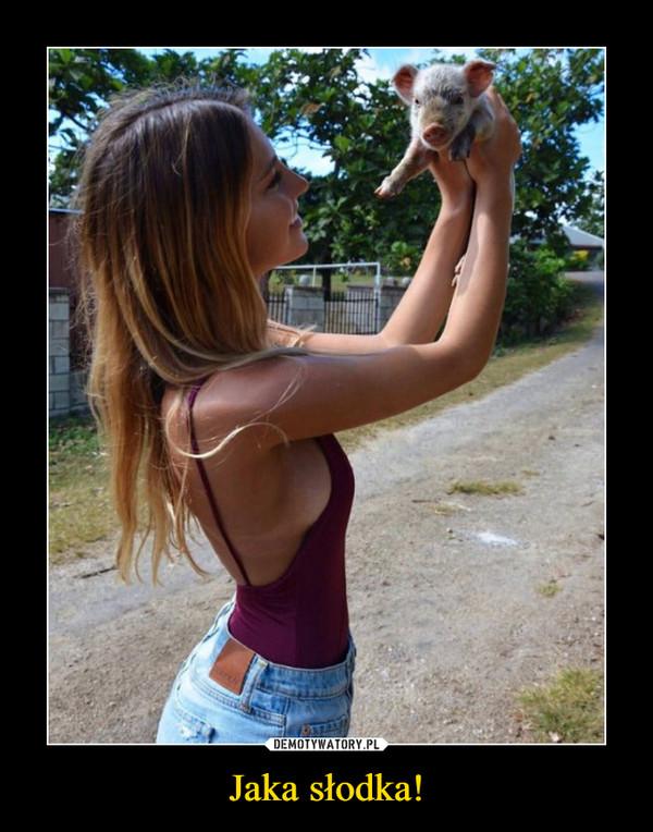 Jaka słodka! –