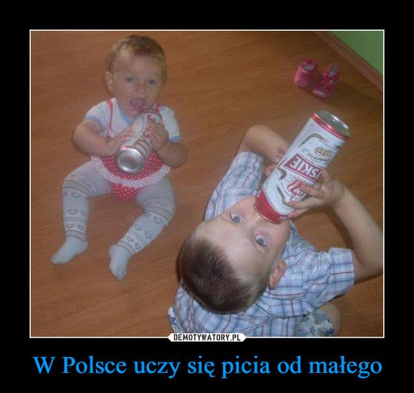 W Polsce uczy się picia od małego –