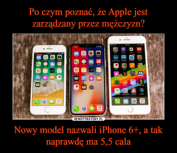 Nowy model nazwali iPhone 6+, a tak naprawdę ma 5,5 cala –