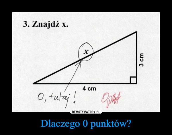 Dlaczego 0 punktów? –