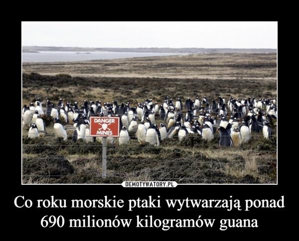 Co roku morskie ptaki wytwarzają ponad 690 milionów kilogramów guana –