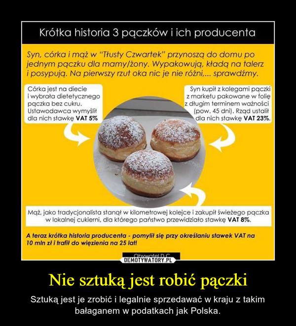 Nie sztuką jest robić pączki – Sztuką jest je zrobić i legalnie sprzedawać w kraju z takim bałaganem w podatkach jak Polska.