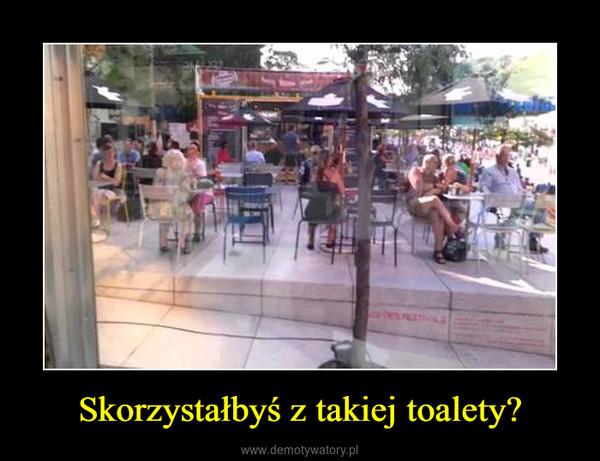 Skorzystałbyś z takiej toalety? –