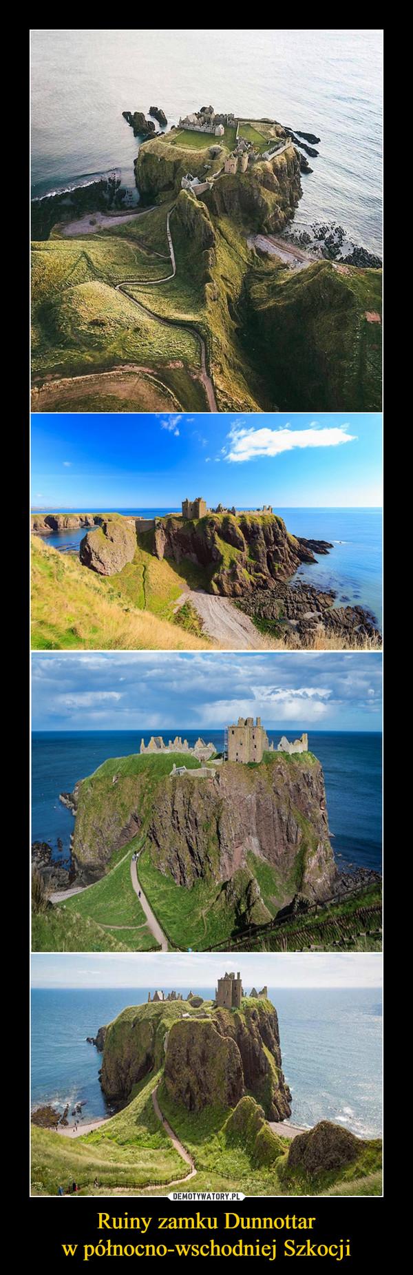 Ruiny zamku Dunnottarw północno-wschodniej Szkocji –