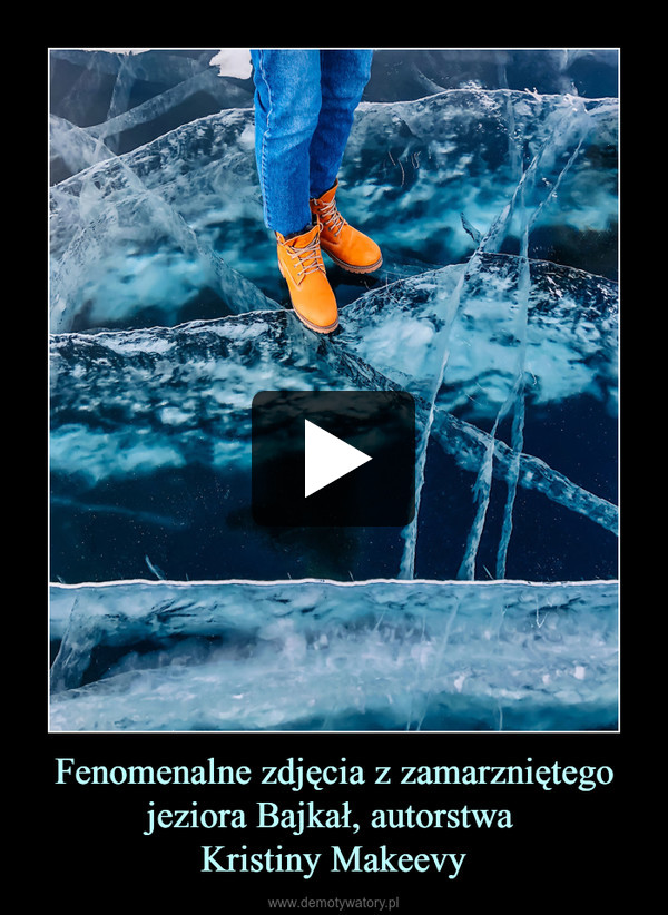 Fenomenalne zdjęcia z zamarzniętego jeziora Bajkał, autorstwa Kristiny Makeevy –