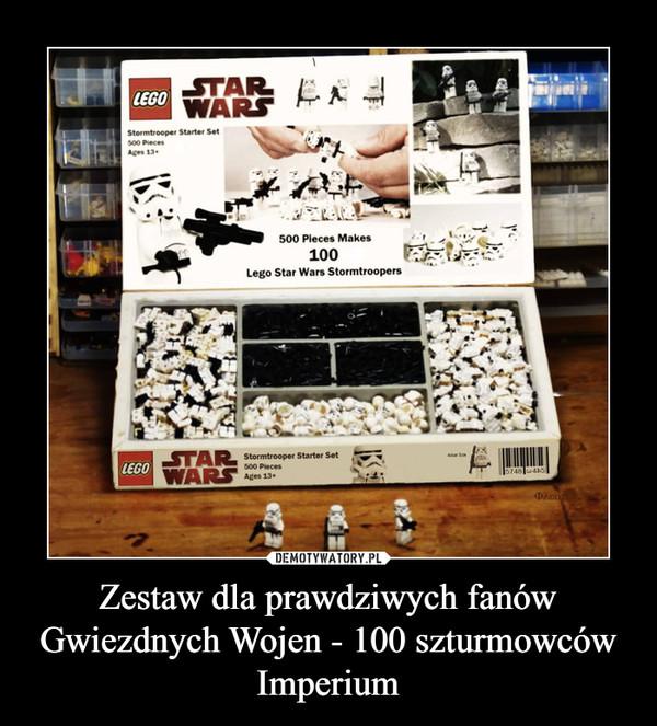 Zestaw dla prawdziwych fanów Gwiezdnych Wojen - 100 szturmowców Imperium –