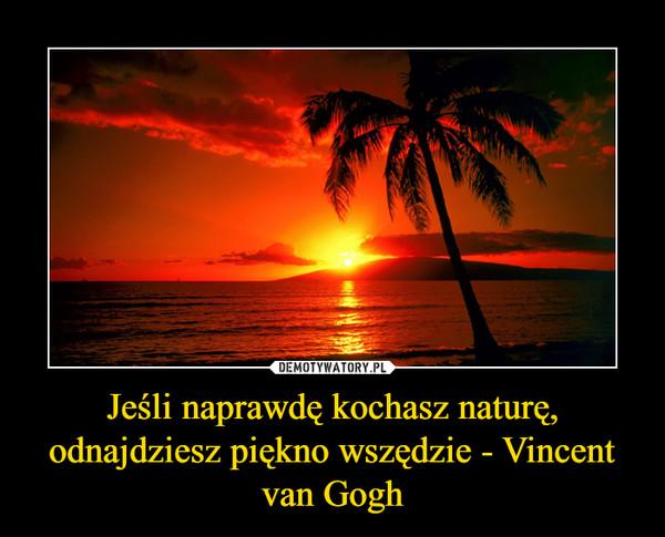 Jeśli naprawdę kochasz naturę, odnajdziesz piękno wszędzie - Vincent van Gogh –