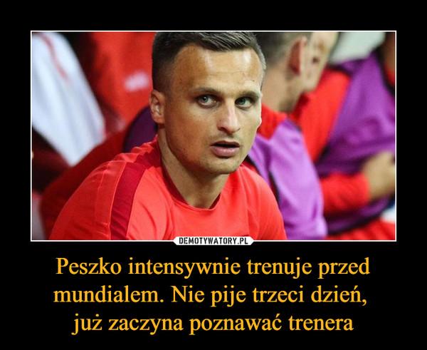 Peszko intensywnie trenuje przed mundialem. Nie pije trzeci dzień, już zaczyna poznawać trenera –
