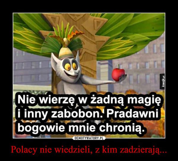 Polacy nie wiedzieli, z kim zadzierają... –