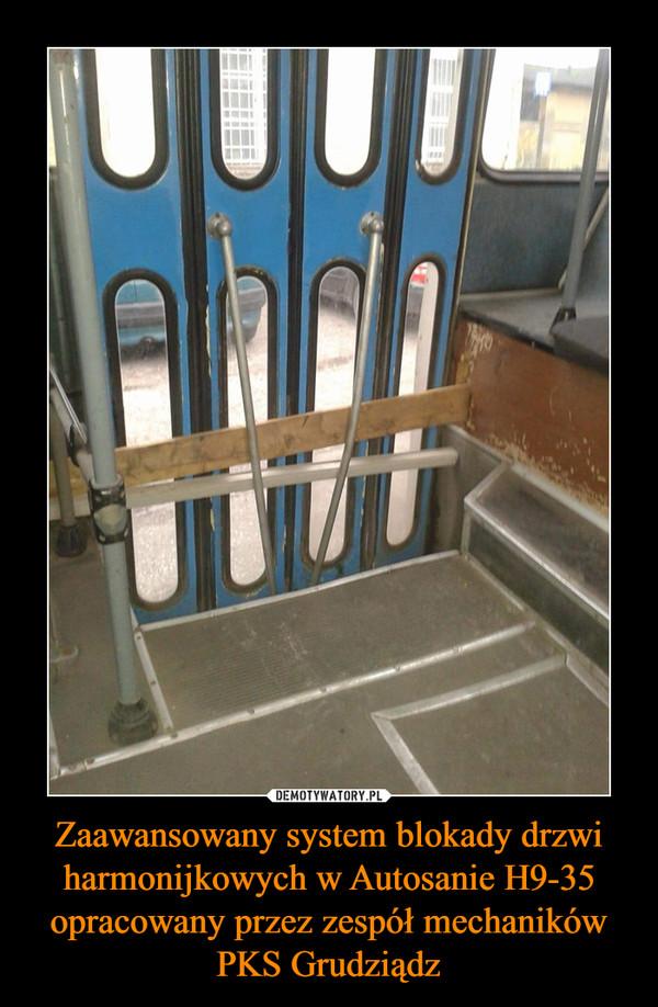 Zaawansowany system blokady drzwi harmonijkowych w Autosanie H9-35 opracowany przez zespół mechaników PKS Grudziądz –