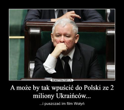 A może by tak wpuścić do Polski ze 2 miliony Ukraińców...