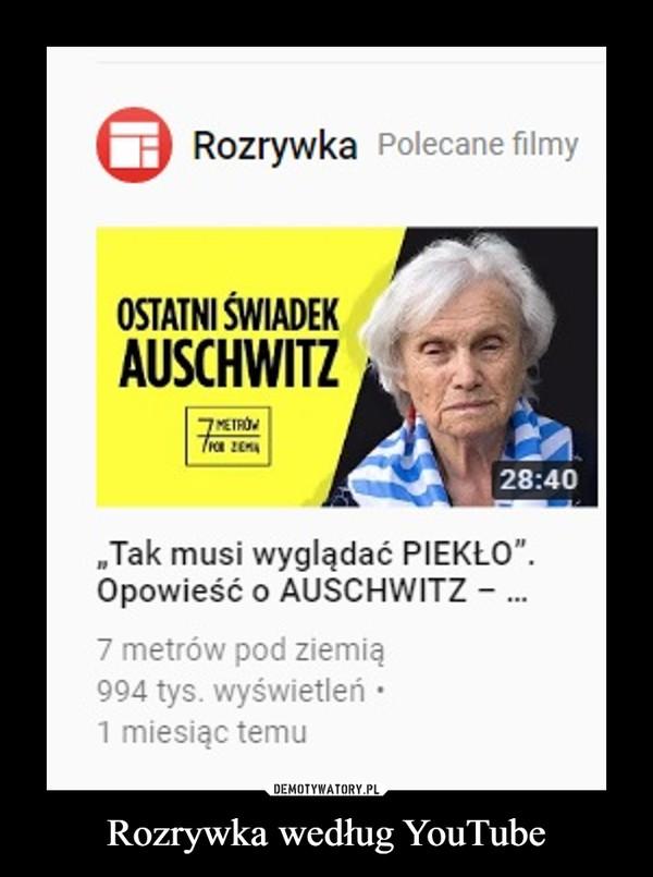 Rozrywka według YouTube –