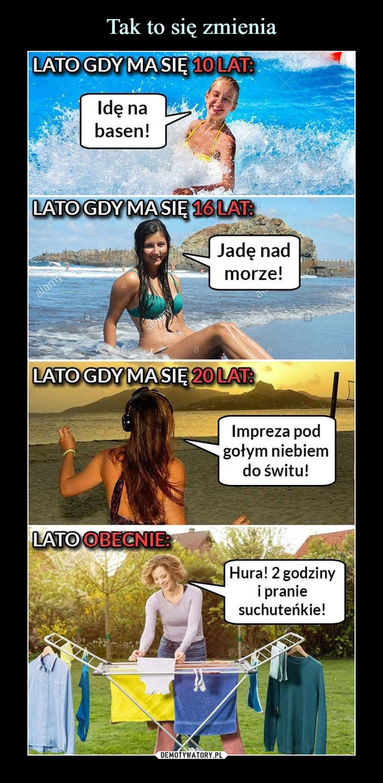 –  LATO GDY MA SIĘ 16 LATJadę nad morze! LATO GDY MA SIĘ 20 LATImpreza pod gołym niebiem do świtu! OBECNIE: Hura! 2 godziny i pranie suchuteńkie!