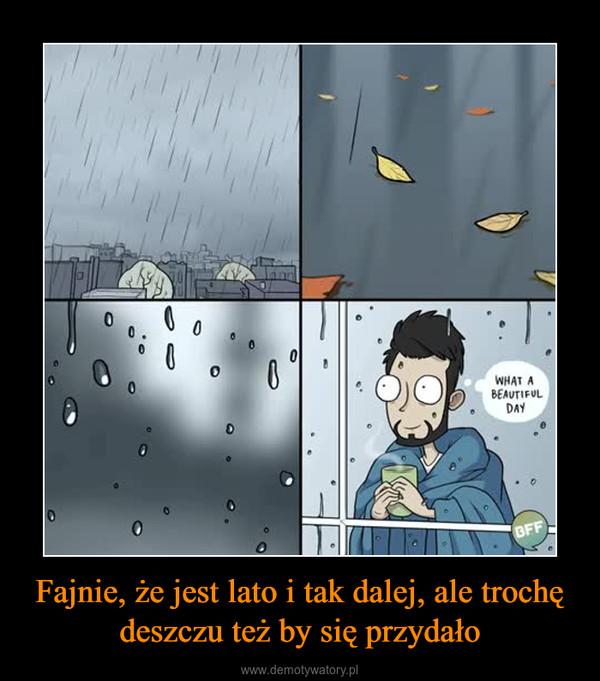 Fajnie, że jest lato i tak dalej, ale trochę deszczu też by się przydało –