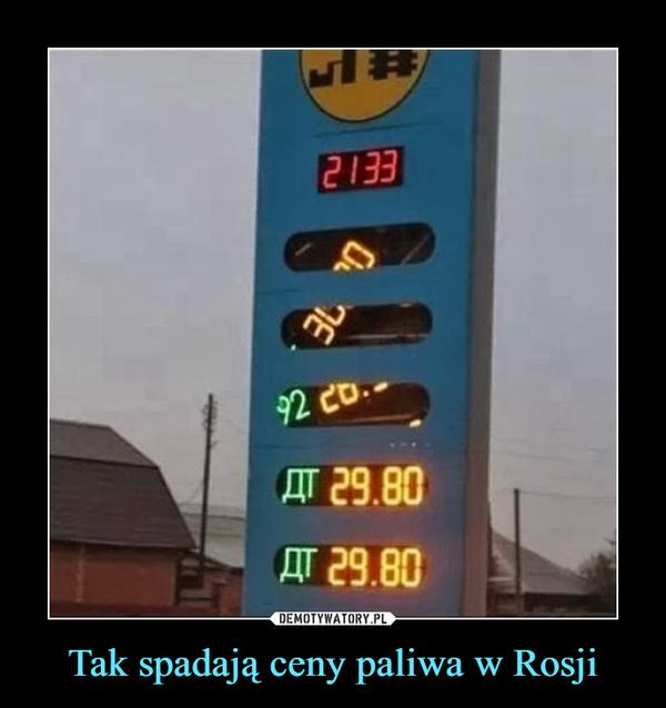 Tak spadają ceny paliwa w Rosji –