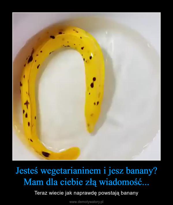 Jesteś wegetarianinem i jesz banany?Mam dla ciebie złą wiadomość... – Teraz wiecie jak naprawdę powstają banany
